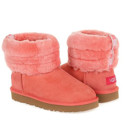 UGG Classic Mini Fluff Quilted Boot Pink