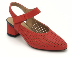 Босоножки из натуральной кожи на устойчивом каблуке