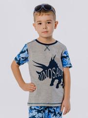 Футболка с короткими рукавами и изображением динозавра купить