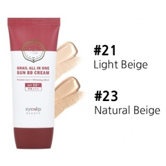 ENL SNAIL Крем ББ для лица улиточный  Snail All In One Sun BB Cream #21 Light Beige 50мл (10702070/1