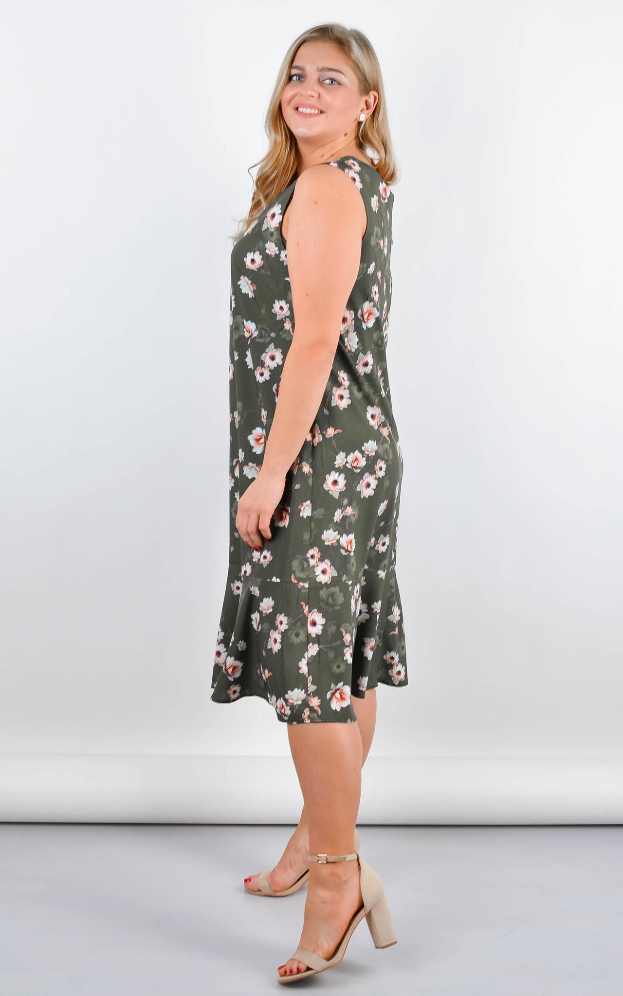 Нежное платье Ванила (олива)