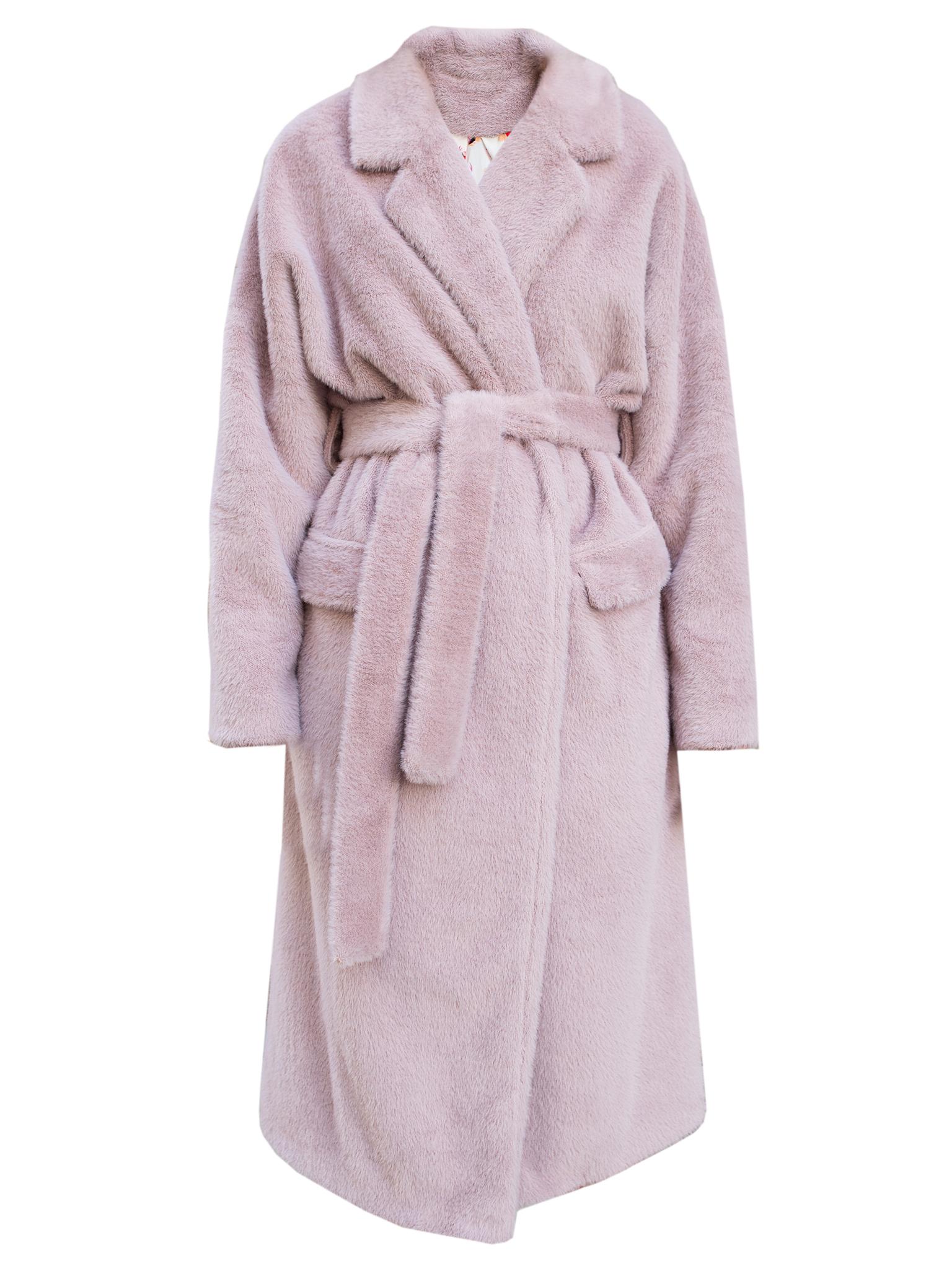 Плюшевое пальто-халат purple
