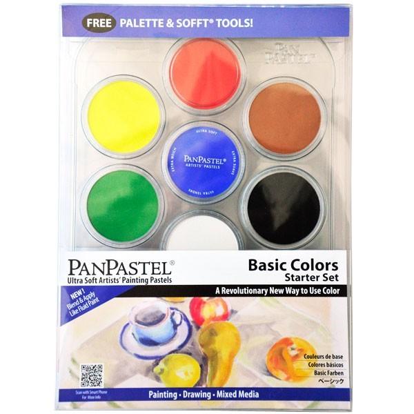 Набор ультрамягкой пастели PanPastel 7 цветов (basic colors)