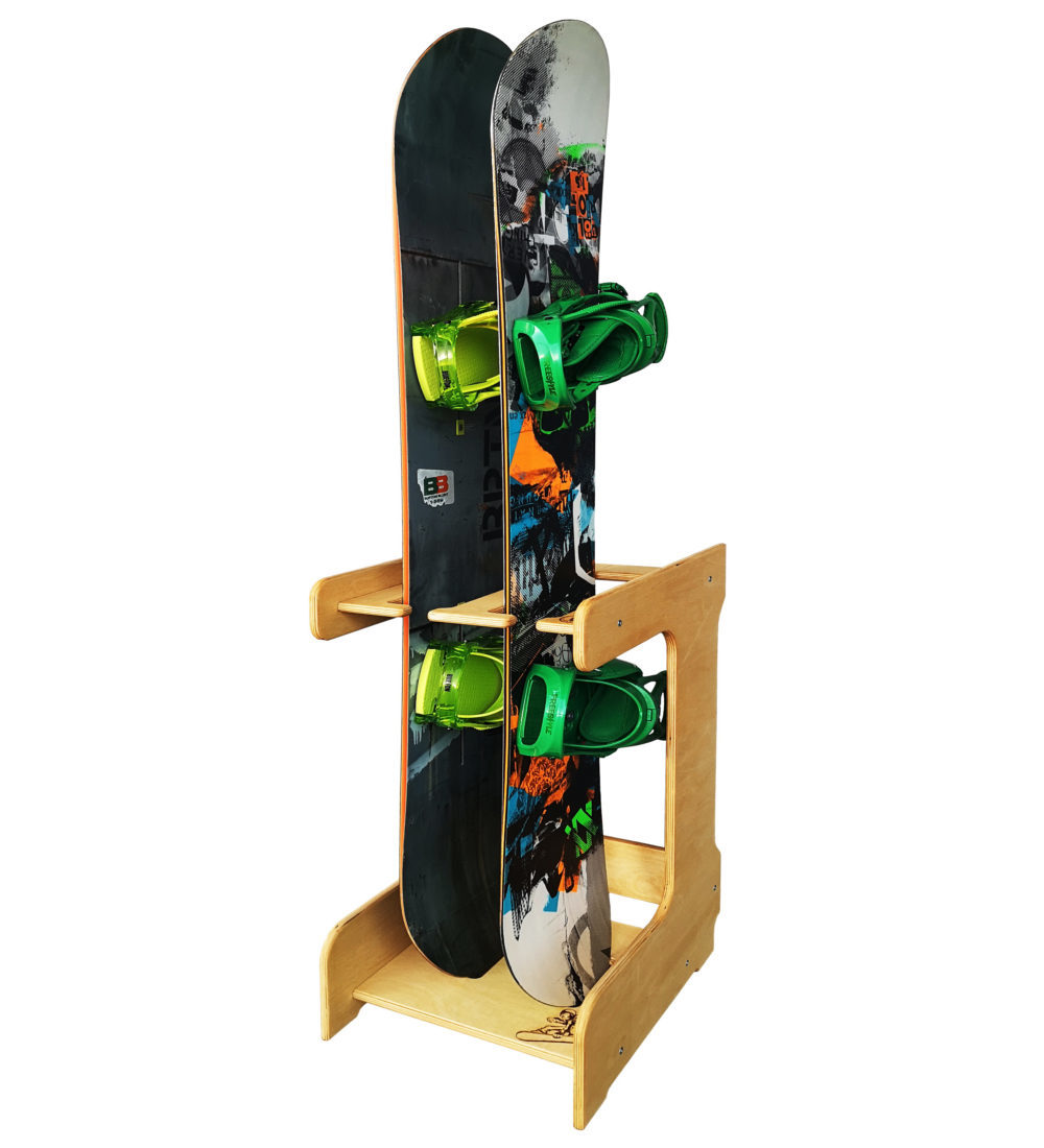 Напольная стойка для 2 сноубордов