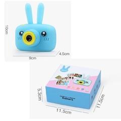 фотоаппарат зайка голубой с чехлом