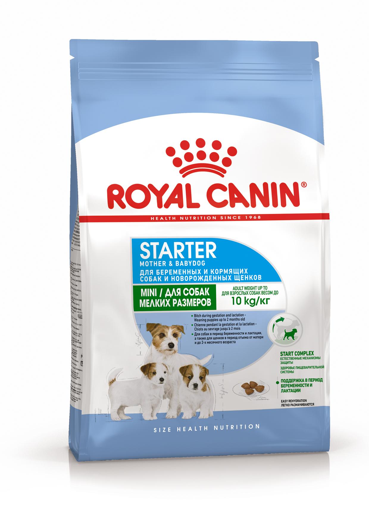 Каталог Корм для щенков мелких пород до 2-х месяцев, Royal Canin Mini Starter Mother & Babydog 4627109384419_1.png