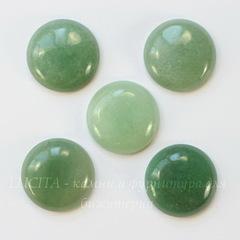 Кабошон круглый Авантюрин зеленый, 26 мм