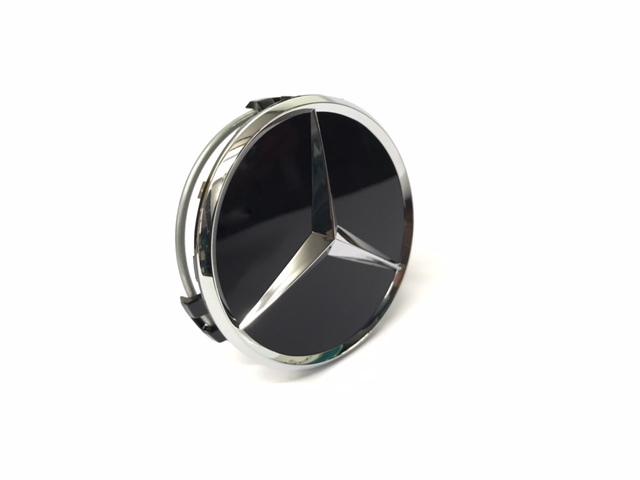 Колпак ступицы колеса Mercedes-Benz black (1 шт.)