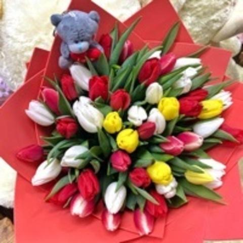 51 Тюльпан к Дню Святого Валентина