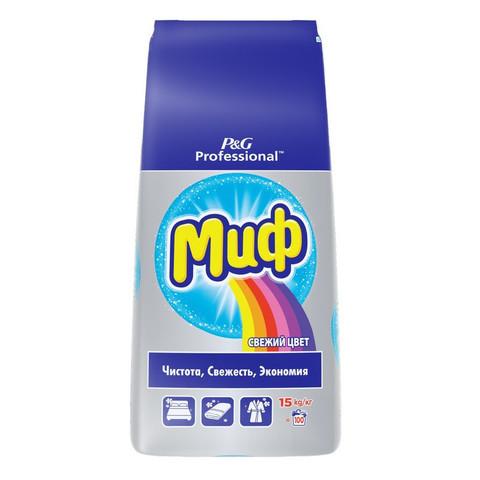 Порошок стиральный автомат Миф Professional Свежий цвет 15 кг