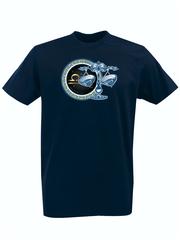 Футболка с принтом Знаки Зодиака, Весы (Гороскоп, horoscope) темно-синяя 006