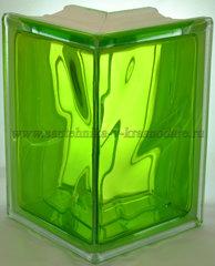 Угловой стеклоблок тархун окрашенный изнутри Vitrablok 19x13x13x8