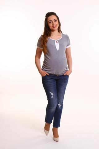 Блузка для беременных 07682 синий