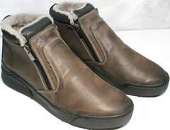 Мужские ботинки без шнурков Rifellini Rovigo 046 Brown Black.