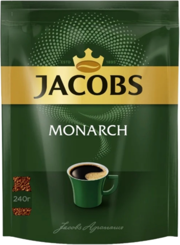 Кофе растворимый Jacobs Monarch, пакет 220 г
