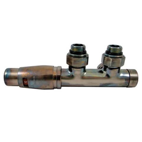 Узел подключения DUO-PLEX Technoline Угловой, левый. 3/4 x М22x1,5 + 2 Ниппеля 1/2x3/4