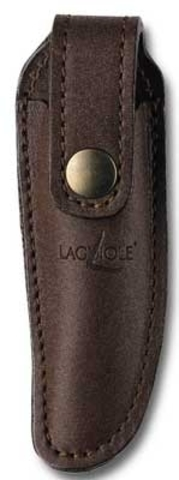 Чехол кожаный на пояс для складного ножа с лезвием 11 см. коричневого цвета., Forge de Laguiole, дизайн AUBRAC A 2 C