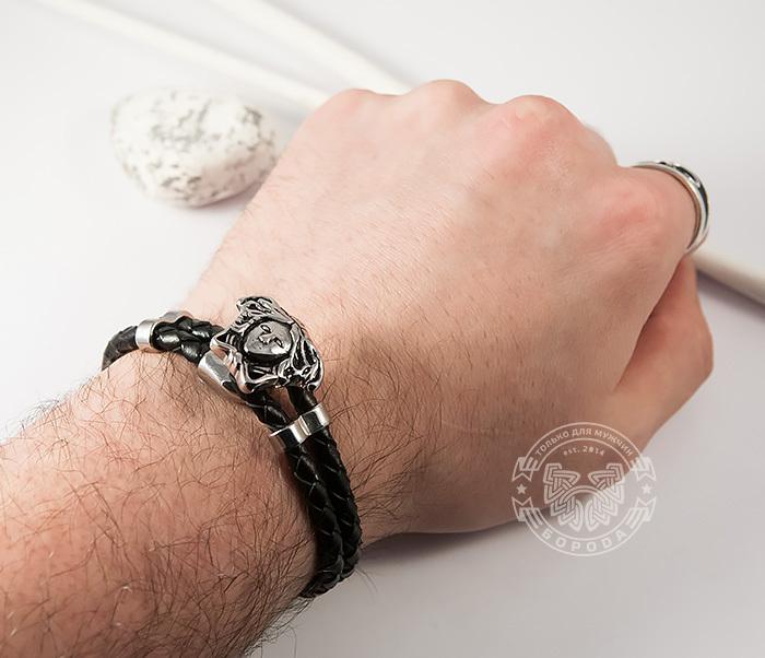 BM384 Оригинальный браслет «Горгона» из кожаного шнура (20 см) фото 06