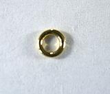 Кольцо неразъемное, 4x0,8 мм, позолоченное, 5 шт.