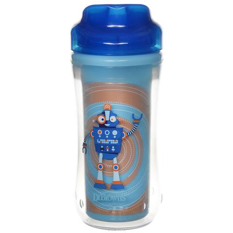 Чашка-термос 300 мл, без носика, 12+ месяцев, (синий)