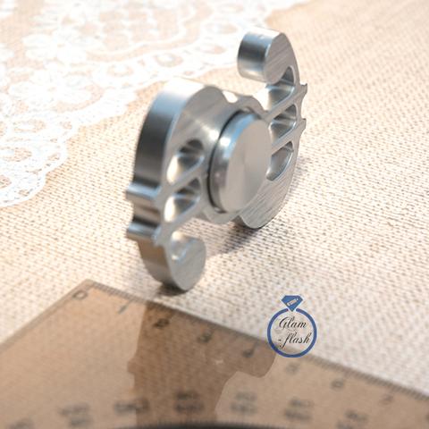 Спиннер из латуни в форме доллара серебряного цвета 17006L_silver