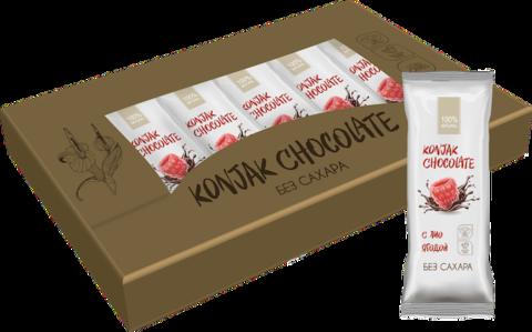 Шоколад без сахара KONJAK CHOCOLATE Малиновый, кор. 10 шт.