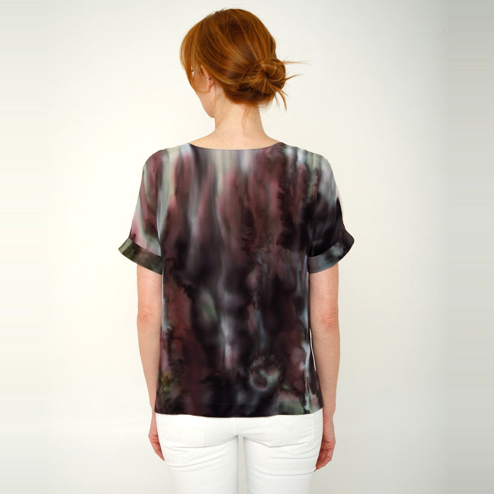 Шелковая блузка ручной росписи