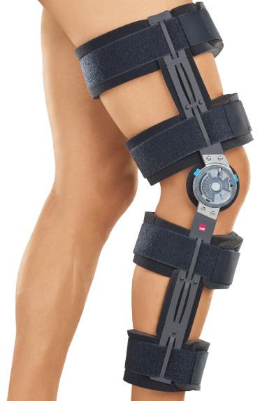 Брейсы (с регулировкой углов сгибания/разгибания) Облегченный реабилитационный коленный ортез (брейс) с регулятором - medi rom II cool medi_rom_cool.jpg