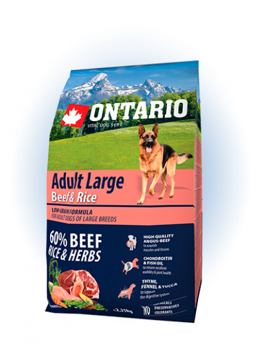 Ontario Adult Large Beef & Rise 2,25 кг