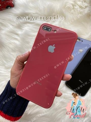 Чехол iPhone 7/8 Plus Glass Pastel color Logo /camelia/