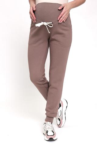 Утепленные спортивные брюки для беременных 12235 мокко