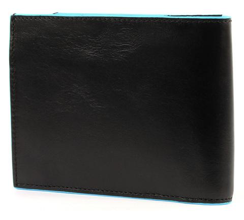 Портмоне Piquadro Blue Square, черное, 12,5х9,5х2,5 см