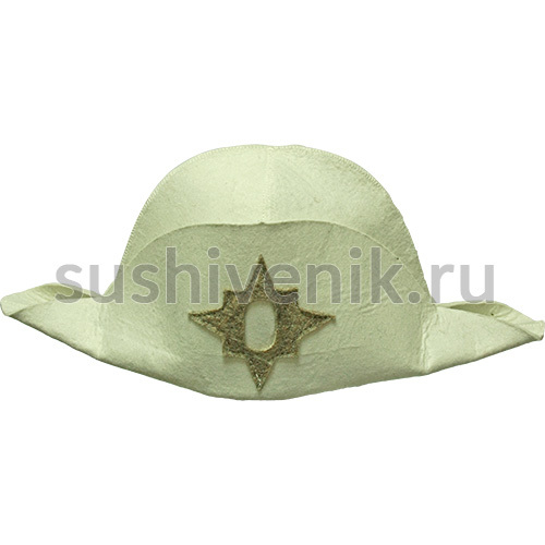 Шляпа Наполеон белая