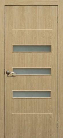Дверь Сибирь Профиль Капелла, цвет ясень 3D, остекленная
