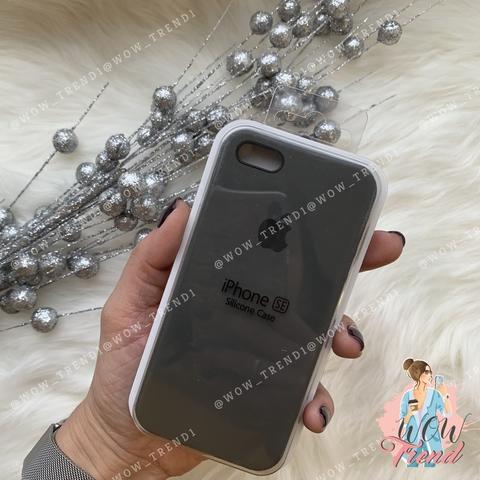 Чехол iPhone 5/5s/SE Silicone Case /charcoal grey/ уголь 1:1