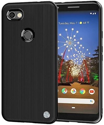 Чехол на Google Pixel 3a цвет Black (черный), серия Bevel от Caseport