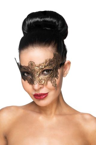 Золотистая карнавальная маска