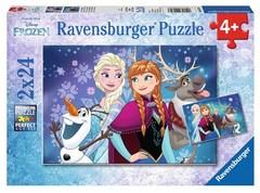 Puzzle Frozen-Northern Lights 2x24 pcs