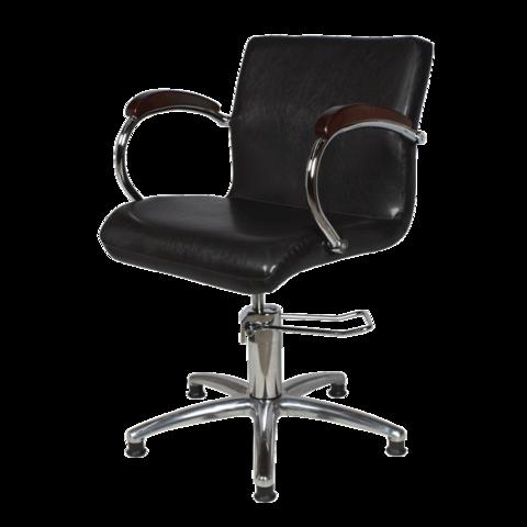 Парикмахерское кресло Лорд - 2 гидравлика хром, пятилучье хром на подпятниках