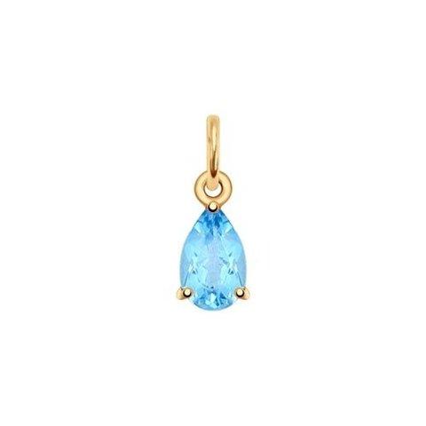 731375 - Подвеска из золота с голубым топазом