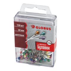 Булавки для пробковых досок Globus в ассортименте (30 мм, 150 штук в упаковке)