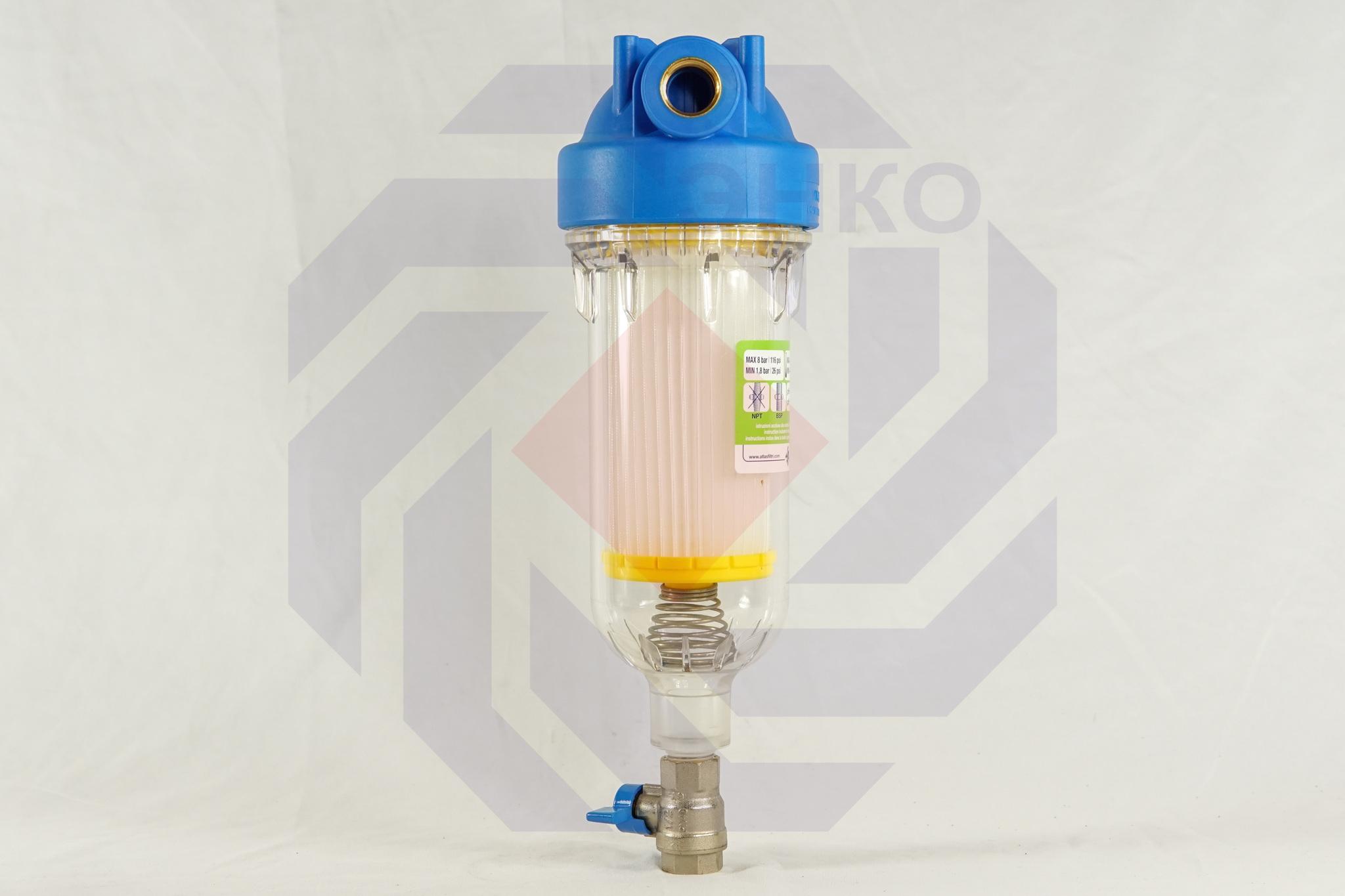 Фильтр для механической очистки самопромывающийся ATLAS HYDRA RSH 50 микрон ½