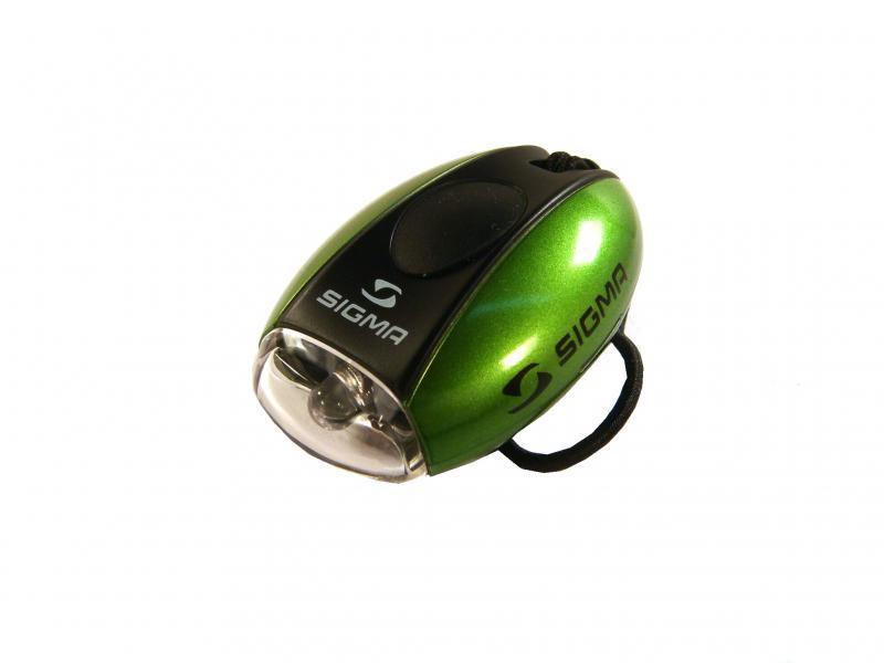 Фонарь передний SIGMA MICRO-W зеленый, белый диод