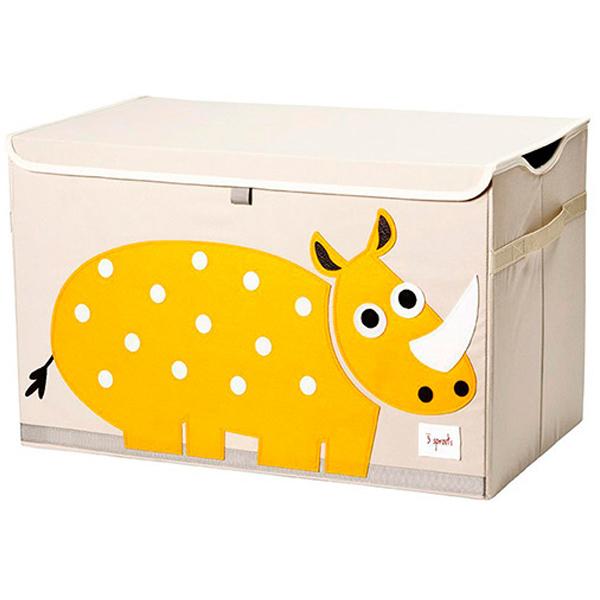 Сундук для хранения игрушек 3 Sprouts Носорог (жёлтый)