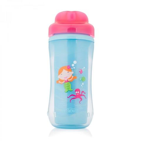 Чашка-термос 300 мл, без носика, 12+ месяцев, (розовый)