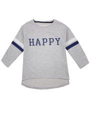 GAC005751 фуфайка детская, серый меланж