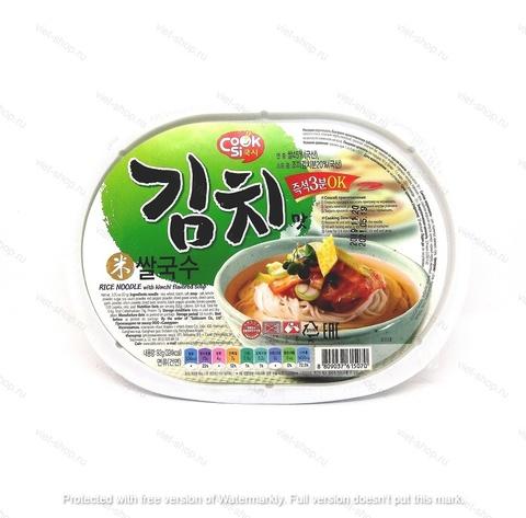 Корейская рисовая вермишель со вкусом кимчи, 92 гр.