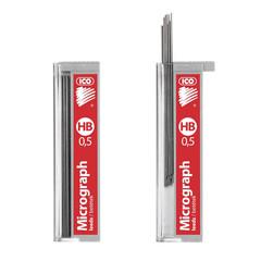 Стержни микрографические ICO 0.5 мм (12 штук в упаковке)