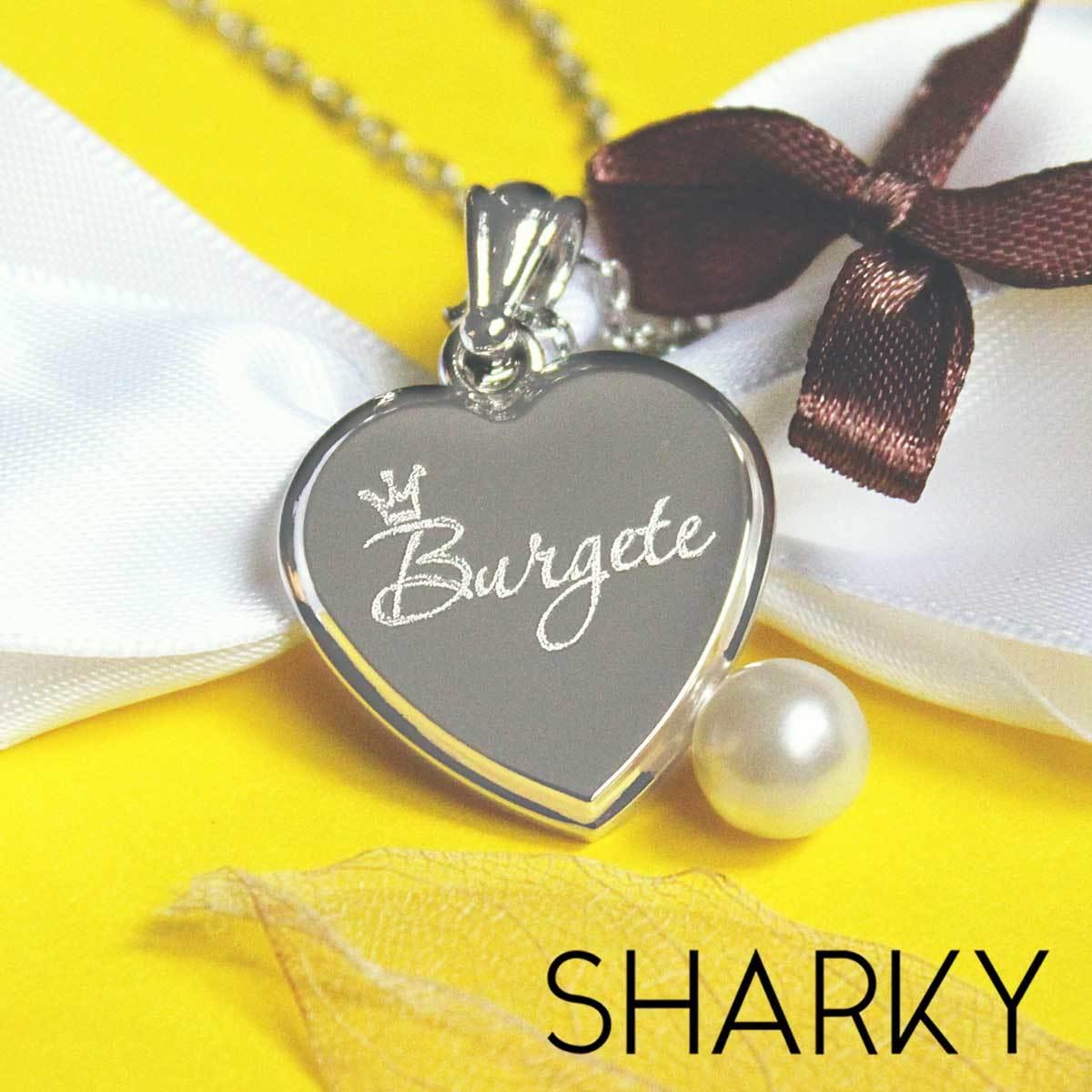 Кулон сердце с гравировкой на заказ для любимой девушки