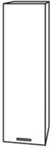 Чили ШВП 400 шкаф-пенал верхний